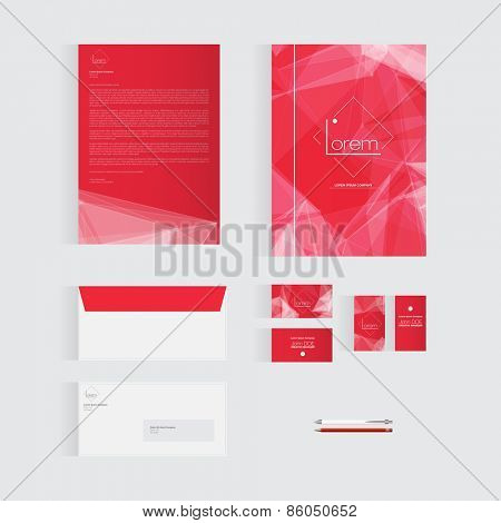 Red Stationery Template Design for Your Business | Modern Vector Design