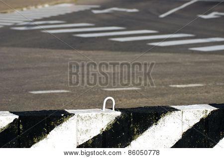 Asphalt Road With Line Background
