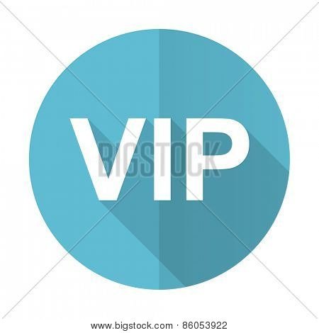vip blue flat icon