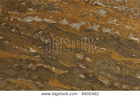 Surface Of The Travertine. Brown And Reddish-brown Colours Of Pattern.