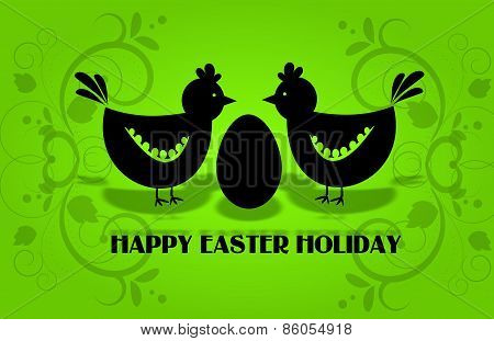 Easter Hens Greeting Card
