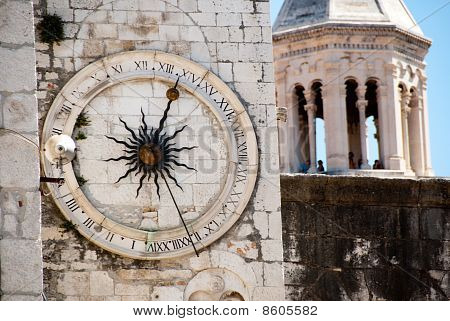 Clock tower in Split, Croati
