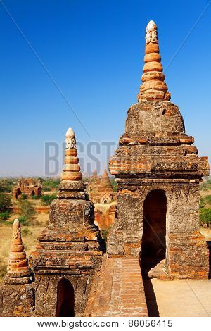 Ancient Pagodas In Bagan