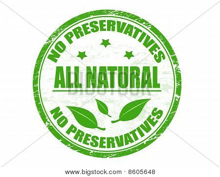 No Preservatives - Natural Stamp