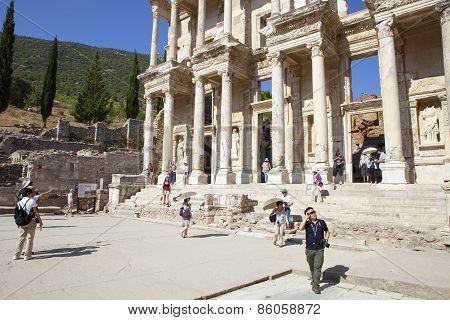 Ephesus, Turkey - Aug 8: Ruins Of The Library Of Cicero On August 08, 2011 In Ephesus.
