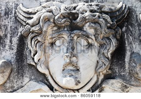 Stone Head Of Medusa At Didyma