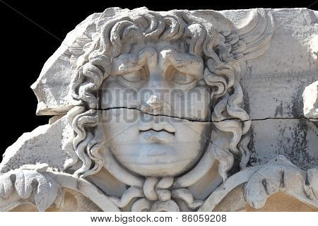 Medusa Gorgon In Apollo Temple, Didyma