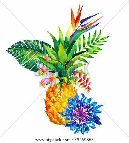 Tropical Bouquet Qith Pineapple