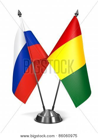 Russia and Guinea - Miniature Flags.