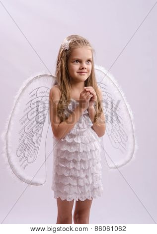 Portrait Of A Girl In Angel Costume