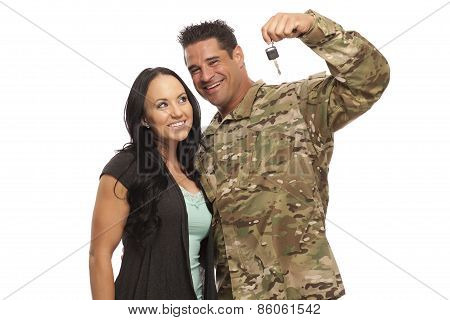 Couple With New Car Key