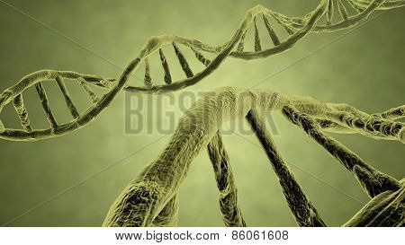 Dna Strand Yellow