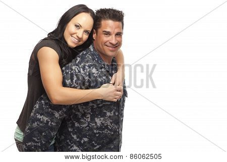 Navy Man With His Wife