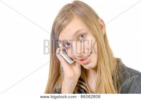 A Teenager With A Cell Phone