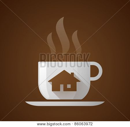 Coffee Cup With A House