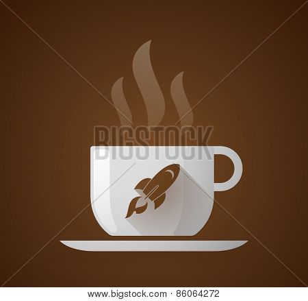 Coffee Cup With A Rocket