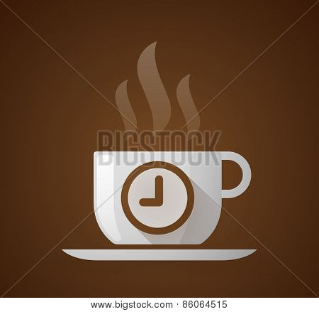 Coffee Cup With A Clock