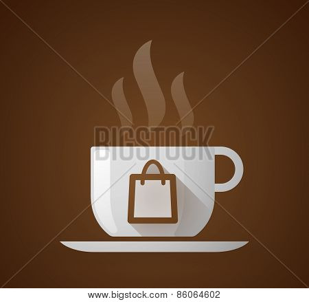 Coffee Cup With A Shopping Bag