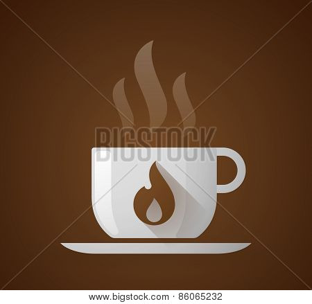 Coffee Cup With A Flame
