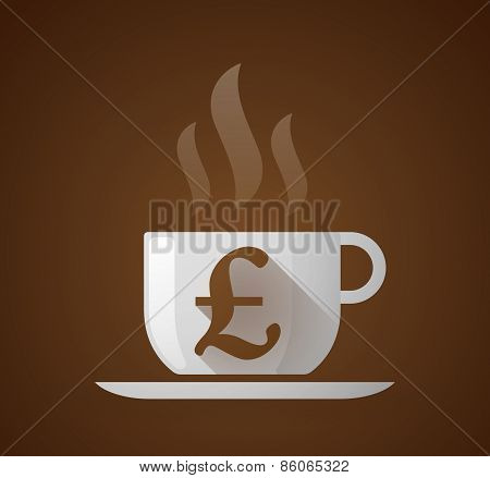 Coffee Cup With A Pound Sign