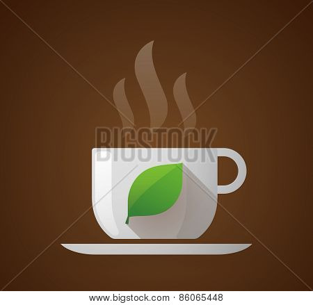 Coffee Cup With A Leaf