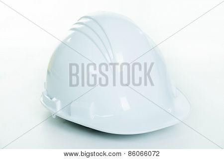 hard hat isolated on white