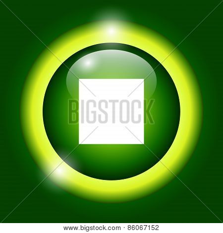 Glossy multimedia icon stop