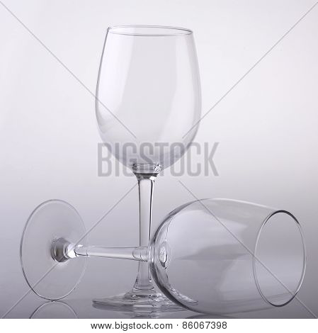 Two Empty Wine Glasses
