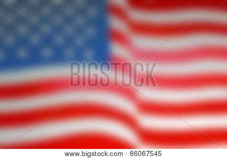 Blurred Background Of The United States Flag