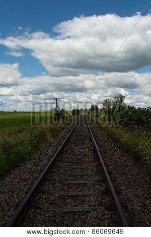 railway to the horizon