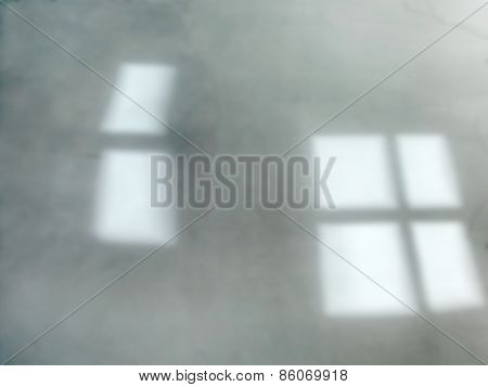 Defocused Gray Window Reflections