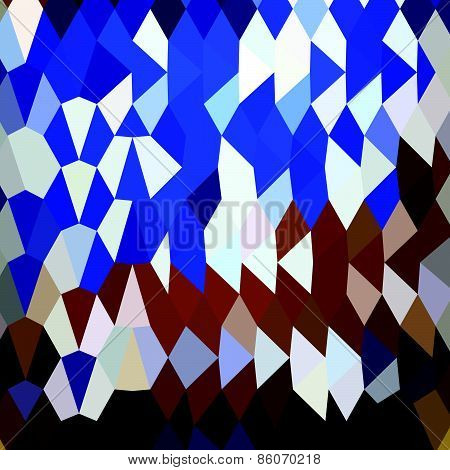 Navy Blue Abstract Low Polygon Background