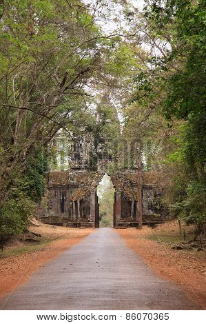 Arch To The Ancient City Of Angkor