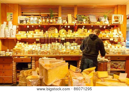 Paris. Cheese shop.