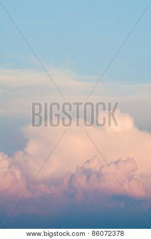 Orange Cloudscape Vertical