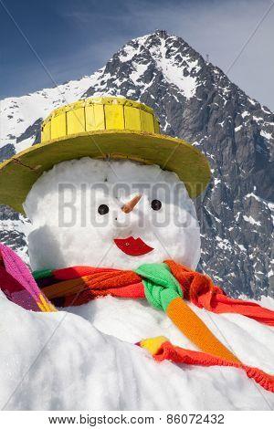 Big Snowman In High Tatras, Slovakia