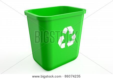Empty Recycle Green Bin