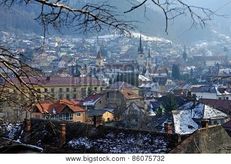 Old Town Of Brasov In Winter