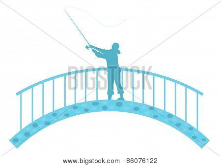 Fisherwoman On The Bridge