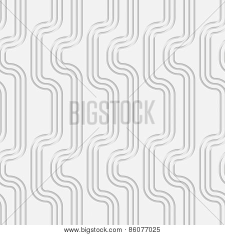 Seamless Vertical Stripe Pattern. Vector Soft Background. Regular White Texture