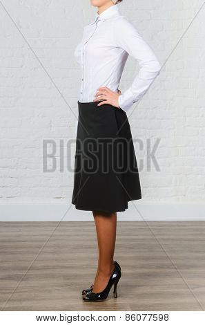 Female black office clothing isolated on white
