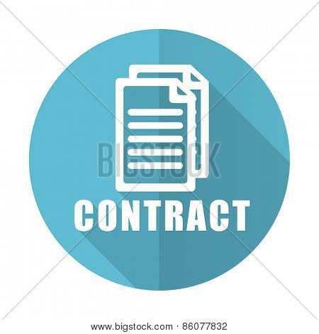 contract blue flat icon