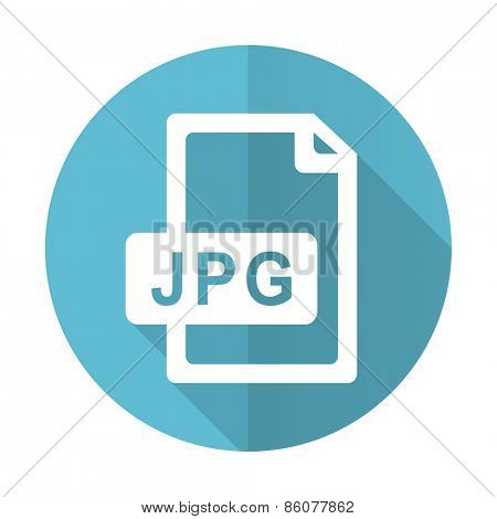 jpg file blue flat icon