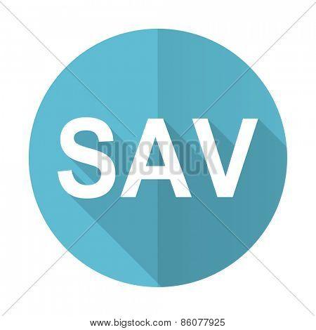 sav blue flat icon