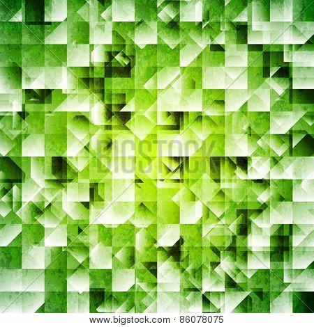 Tech green iridescent background. Vector design