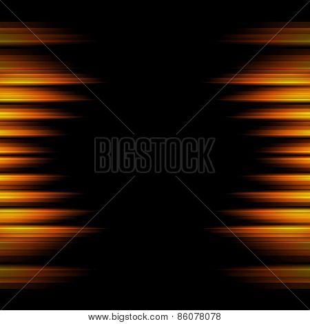 Conceptual orange stripes abstract background. Vector design template