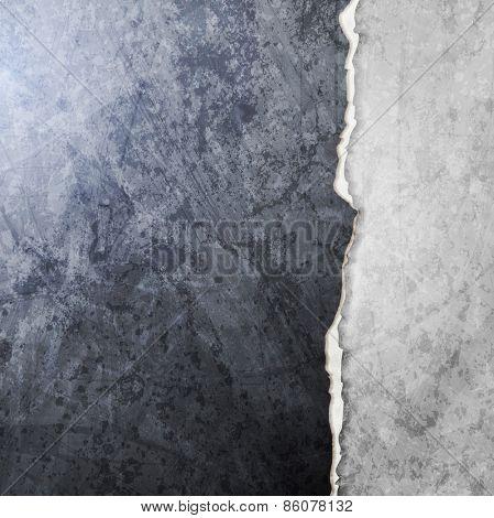 Abstract grunge broken wall design. Vector art background