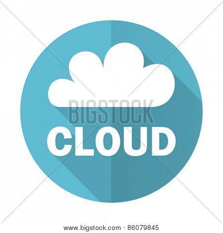 cloud blue flat icon