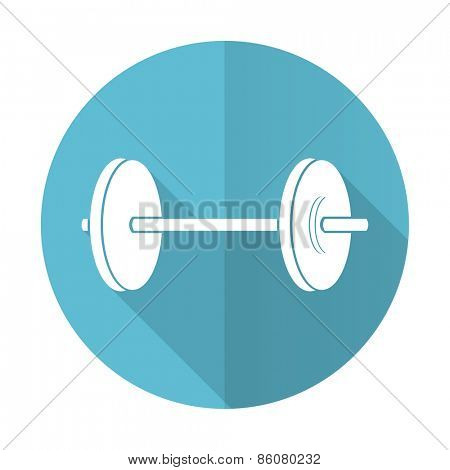 fitness blue flat icon