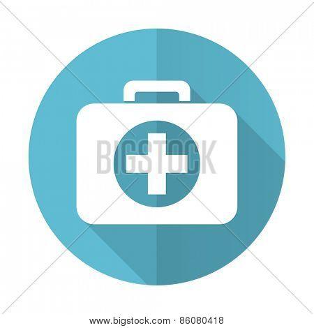 first aid blue flat icon hospital blue flat icon
